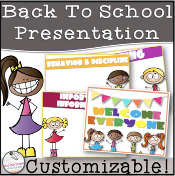 SillyKidz Open House/Back to School/Meet the Teacher EDITABLE Presentation Pack