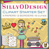 SillyODesign Free Clip Art Sampler TpT Starter Set