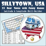 Latitude & Longitude Worksheet - Sillytown, USA