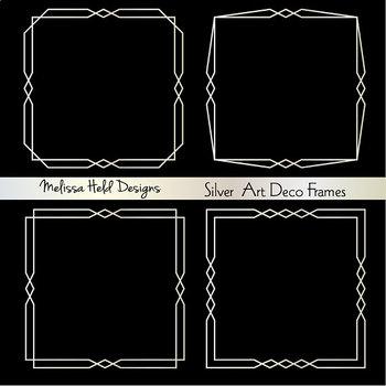 Silver Art Deco Frames