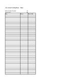 Silver Award Hours Tracking Sheet