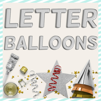 Silver Balloon PNG Letters
