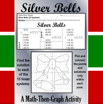 Silver Bells - 15 Linear Systems & Coordinate Graphing Activity