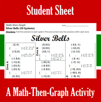 Silver Bells - A Math-Then-Graph Activity - 30 Systems