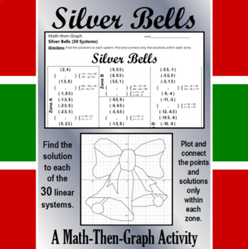 Silver Bells - 30 Linear Systems & Coordinate Graphing Activity