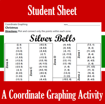 Christmas - Silver Bells - A Coordinate Graphing Activity