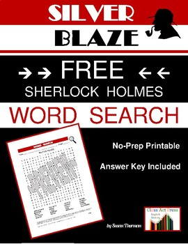 Silver Blaze--FREE Word Search for the Sherlock Holmes Short Story