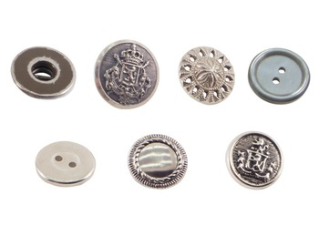Buttons Silver Real Photo Clipart