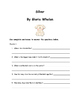 Silver By Gloria Whelan Comprehension Packet