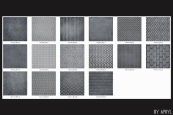 Silver Chevron Glitter 12x12 Printable Scrapbook Paper Texture Background