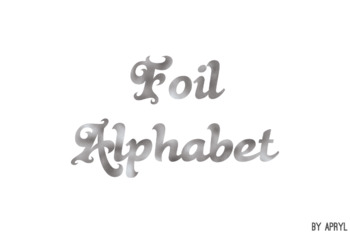 Silver Foil Alphabet Clip Art Metallic Look 81 PNG Images Letters Numbers