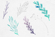 Silver Foil And Watercolor Botanical Clipart