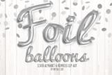 Silver Foil Balloon Script Alphabet