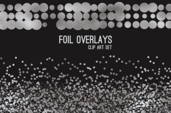Silver Foil Confetti Overlays 20 PNG Clip Art for 12x12 Papers