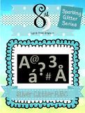 Silver Glitter ABC Clip Art