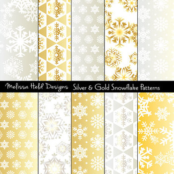 Silver & Gold Snowflake Patterns