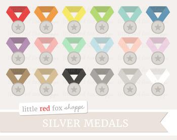 Silver Medal Clipart; Award, Sports