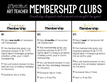 Silver Membership Club - Digital Clipart