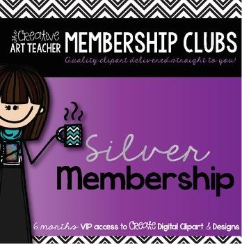 Silver Membership Club - Digital Clipart