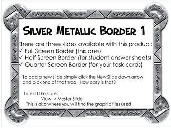 Silver Metalic Task Card Starter!