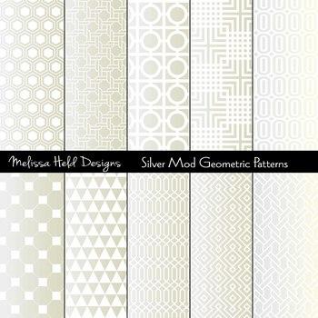 Silver Mod Geometric Patterns