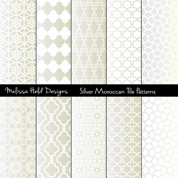 Silver Moroccan Tile Patterns