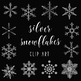 Silver Snowflakes Clip Art, Snowflake Graphics