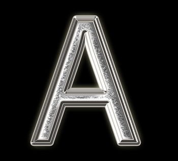 Alphabet Clip Art Silver Sparkle & Shine , Punctuation, Math Symbols & Numerals