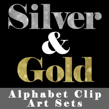 Silver and Gold Alphabet Letters - Alphabet Clip Art