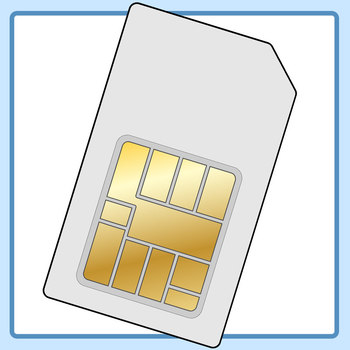 Sim Card Clip Art Set for Commercial Use