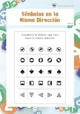 Símbolos en la Misma Dirección (Habilidades de Percepción Visual)