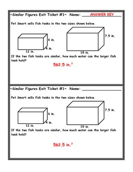 similar figures volume word problem exit ticket by jessica eaton. Black Bedroom Furniture Sets. Home Design Ideas