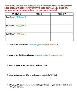Similar Figure - Introductory Picture Activity