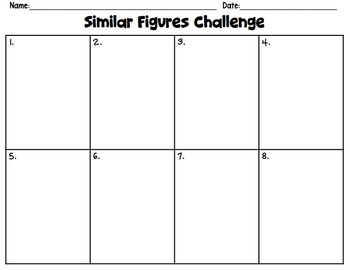 Similar Figures Challenge Task Card Activity