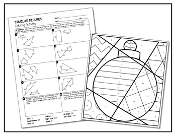 Similar Figures Coloring Activity