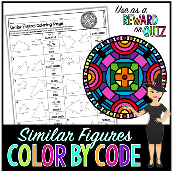 SIMILAR FIGURES MATH COLOR BY NUMBER, QUIZ