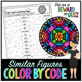 Similar Figures Math Color By Number or Quiz
