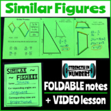 Similar Figures Foldable Notes Interactive Notebook