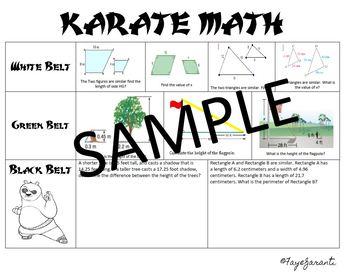 Similar Figures: Karate Math Activity