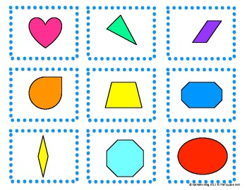 Similar Figures Matching Game - Great for Math Centers!