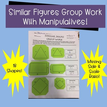 Similar Figures Matching and Solving Exercise