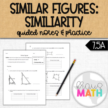 Similar Figures Introduction Notes: Understanding Similarity