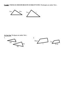 Similar Figures Notes