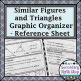Similar Figures - Properties and Triangle Methods Reference/Graphic Organizer