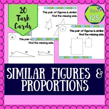 Similar Figures & Proportions Task Cards