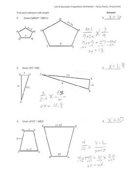 Similar Figures & Proportions Worksheet