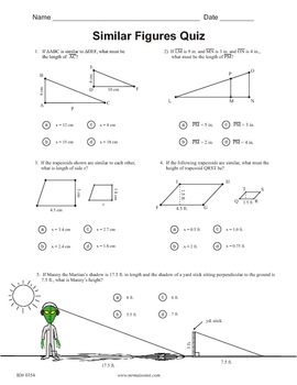 Similar Figures Quiz by Maisonet Math - Middle School Resources | TpT