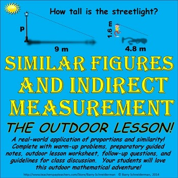 Similar Figures / Indirect Measurement: Using Similar Triangles to Find Heights