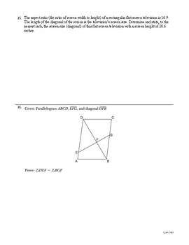 Similar Figures Review Packet