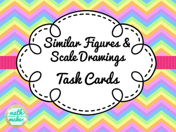 Similar Figures Scale Drawing Task Cards ~ 63 differentiate cards